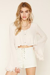 Forever 21 Floral Lace Lace Up Shorts