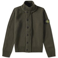 Stone Island Button Up Cardigan Green