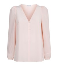 Claudie Pierlot Bertille Frill Sleeve Blouse Female Rose