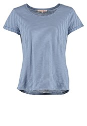 Tom Tailor Denim Print Tshirt Greyish Mid Blue