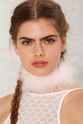 Frasier Sterling The Foxy Feather Choker Pink