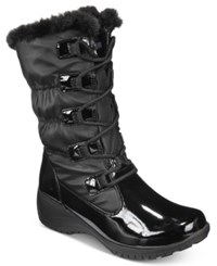 Khombu Women's Audrey Lace Up Cold Weather Boots Women's Shoes Black