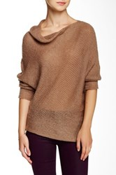 Wooden Ships Asymmetrical Sweater Brown