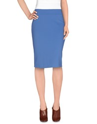 Siste's Siste' S Skirts Knee Length Skirts Women Pastel Blue
