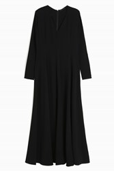 The Row Seri Dress Black