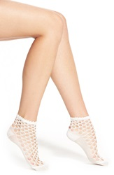 Chelsea 28 Open Weave Anklets White Snow