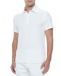 Vilebrequin Short Sleeve Terry Polo White