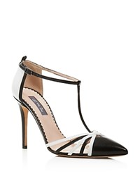 Sjp By Sarah Jessica Parker Carrie Color Block Cage T Strap Pumps Bloomingdale's Exclusive