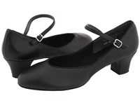 Capezio Suede Jr. Footlight Black Women's Dance Shoes