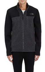 The North Face Men's Tech Fabric And Fleece Zip Front Jacket Grey