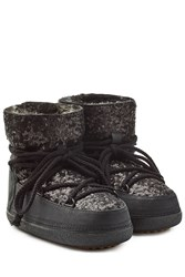 Inuikii Sequin Ikkii Classic Low Boots Black
