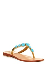 Mystique Polished Stone Sandal Blue