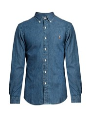 Polo Ralph Lauren Long Sleeved Denim Shirt Blue