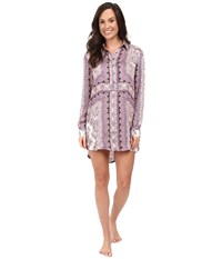 Pj Salvage Bella Paisley Sleep Shirt Grape Women's Pajama Purple