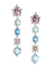 Anzie Dew Drop Marine Light Amethyst Sky Blue Topaz And Swiss Blue Topaz Drop Earrings Blue Topaz Amethyst