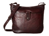 Frye Melissa Button Crossbody Wine Cross Body Handbags Burgundy