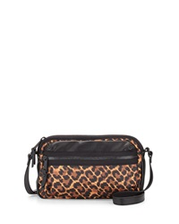 French Connection Piper Leopard Print Crossbody Bag Leopard Bl