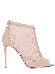 Dolce And Gabbana 105Mm Keira Suede Lace Ankle Boots