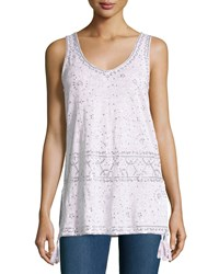 Calypso St. Barth Garen Linen Sequined Tank Gray