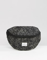 Spiral Bumbag In Glow In The Dark Speckle Black