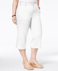 Charter Club Plus Size Capri Pants Only At Macy's Bright White