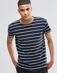 Selected Homme Stripe T Shirt Navy