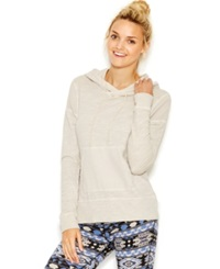 Lucky Lotus By Lucky Brand Gauze Trim Pullover Hoodie