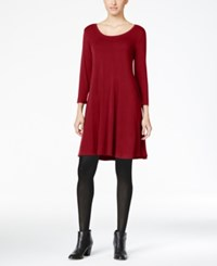 Styleandco. Style Co. Swing Dress Only At Macy's New Red Amore