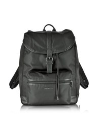Armani Jeans Black Canvas And Eco Leather Men's Backpack