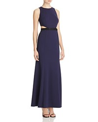 Decode 1.8 Cutout Waist Lace Paneled Gown Navy