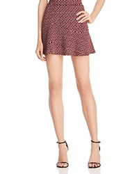 Aqua Pinwheel Printed Skirt Burgundy Black