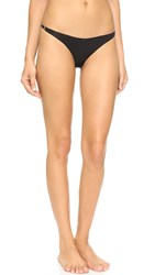 Fleur Du Mal Seamless Lace Back Bikini Briefs Black