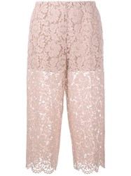 Valentino Guipure Lace Trousers Nude Neutrals