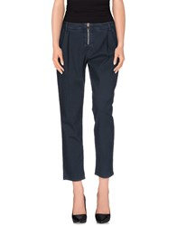 Uniqueness Trousers Casual Trousers Women Dark Blue
