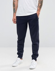 Armani Jeans Cuffed Joggers With Logo In Navy Navy