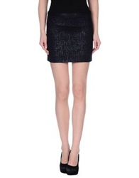 Mauro Grifoni Mini Skirts Dark Blue