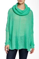 Wooden Ships Seamed Cowl Neck Sweater Green