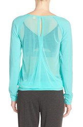 Women's Lole 'Orchid' Crossover Back Colorblock Long Sleeve Top