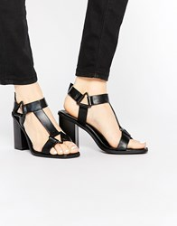 Truffle Collection Bexley Heeled Sandals Black Pu