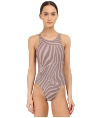 Adidas By Stella Mccartney Performance Swimsuit Ai8404 Smoked Pink Smoked Mystery F10 Women's Swimsuits One Piece Gray