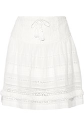 Sea Crochet Paneled Cotton Voile Skirt