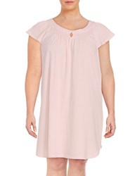 Miss Elaine Plus Knit Nightgown Ice Pink