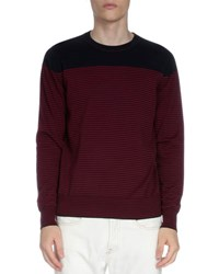 Dries Van Noten Striped Crewneck Long Sleeve Sweater Navy