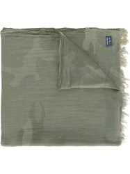 Woolrich Camouflage Scarf Green