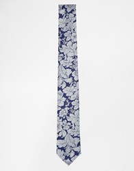 Noose And Monkey Floral Tie Blue