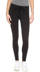 David Lerner Lace Up Leggings Classic Black