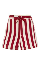 Red Valentino Striped Board Shorts