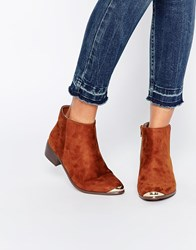 Daisy Street Western Style Heeled Boots Tan