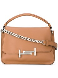 Tod's Metal Clasp Tote Bag Nude And Neutrals