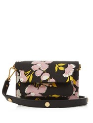Marni Trunk Mini Floral Print Cross Body Bag Black Multi